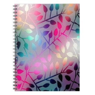 Iridescent Leaves Notebooks
