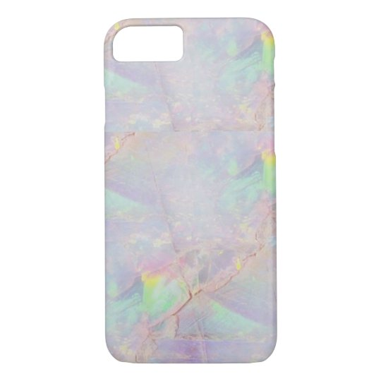 Iridescent marble mermaid stone iPhone case