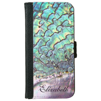 Iridescent Natural Jewel Abalone Mother of Pearl iPhone 6 Wallet Case