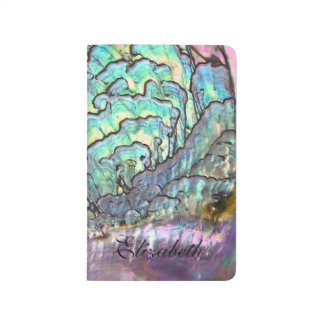 Iridescent Natural Jewel Abalone Mother of Pearl Journal