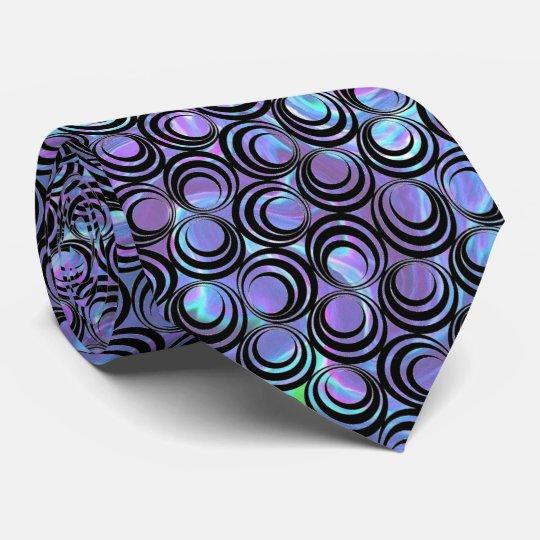 Iridescent Opalescent Spiral Pattern - Custom Tie