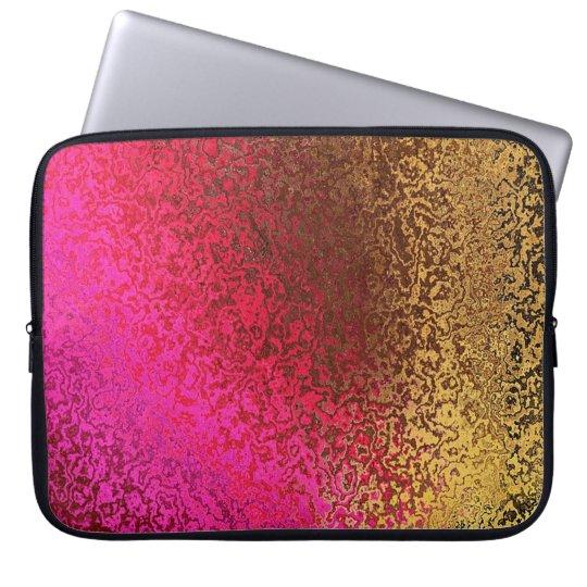 Iridescent Pink & Gold Laptop Sleeve