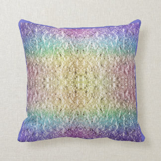 Iridescent Rainbow Throw Pillow