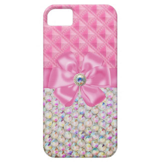 Iridescent Rhinestones Ribbon Bows Iphone Case Case For The iPhone 5