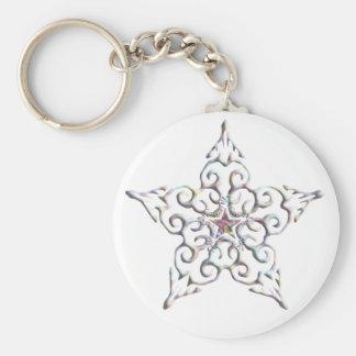 Iridescent Star Keychain