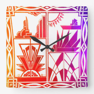 Iridescent stylish wall clock