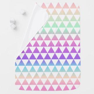 Iridescent Triangles Pattern Monogram Baby Blanket
