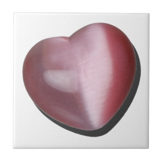 IridescentPinkHeart070315.png Small Square Tile