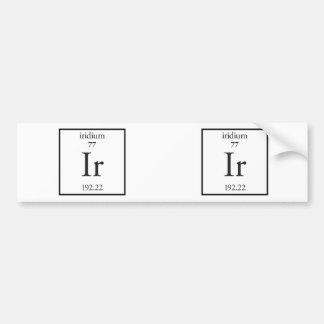Iridium Bumper Sticker