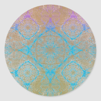 IridiumBluePurpleBrown Round Sticker