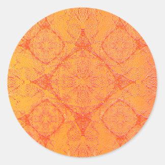 IridiumOrange Round Sticker