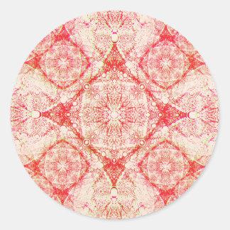 IridiumOrangeWhite Round Sticker