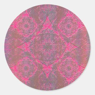 IridiumPink Round Sticker