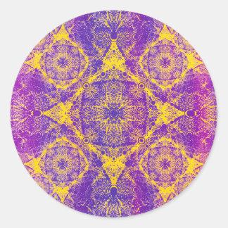 IridiumPurpleYellow Round Sticker