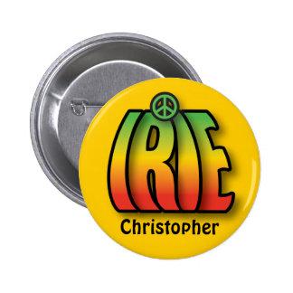 IRIE Peace Button