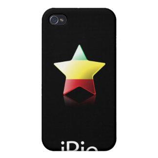 iRie Rasta Star on Black (iPhone 4 case) iPhone 4 Cases