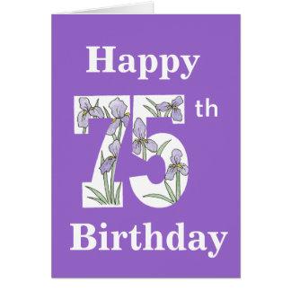 Iris 75th Birthday Card