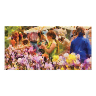 Iris - A sunny day Photo Greeting Card