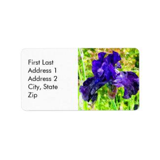 Iris Address Label