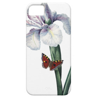 Iris and butterfly vintage image by Redoute iPhone 5 Covers