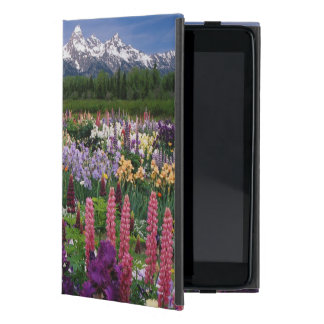 Iris and Lupine garden and Teton Range, Cover For iPad Mini