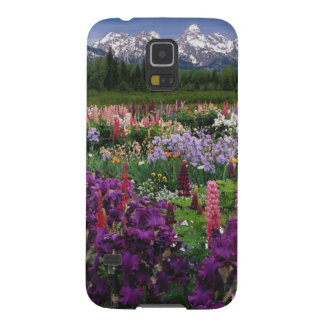 Iris and Lupine garden and Teton Range, Galaxy S5 Cases