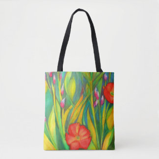 Iris and Poppies Medium Tote