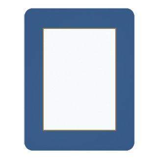 Iris Blue in an English Country Garden 11 Cm X 14 Cm Invitation Card