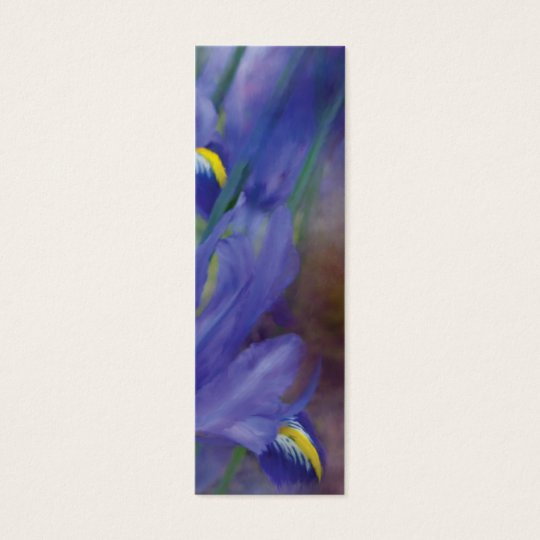 Iris Bouquet Art Bookmark Mini Business Card