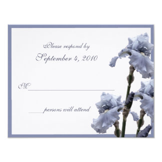 Iris Bouquet/ Blue Card