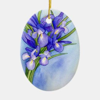 Iris Bouquet Flower Art Painting Ornament Pendant