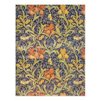 """Iris"" by William Morris Postcard"