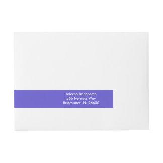 Iris Contemporary One Color Wraparound Address Label