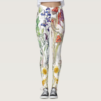 Iris Daffodil Crocus Floral All Over Print Legging