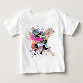 Iris Dancing Fairy Abstract Art Floral Flowers Baby T-Shirt