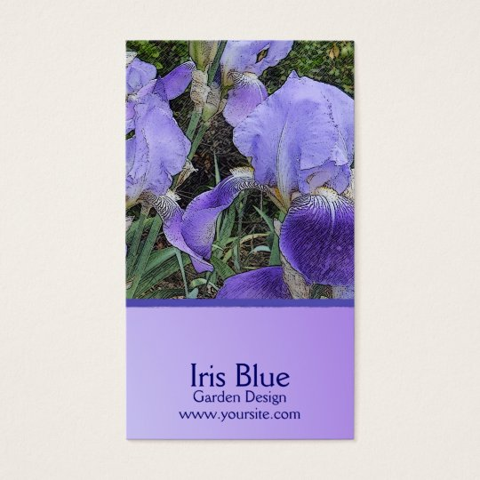Iris Dapple Custom Business Card