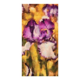 Iris - Diafragma violeta Photo Card Template
