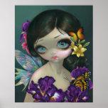 Iris Enchantment ART PRINT flower fairy spring