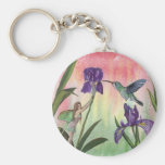 Iris Fairy Basic Round Button Key Ring