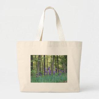Iris field large tote bag
