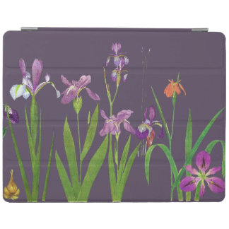 Iris Floral Botanical Flowers Ipad Cover