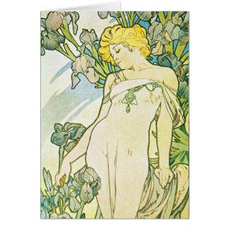 Iris Flower Card