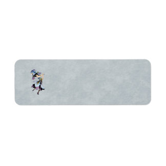 iris flower fairy return address label