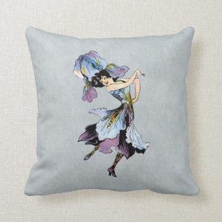 iris flower fairy throw pillow