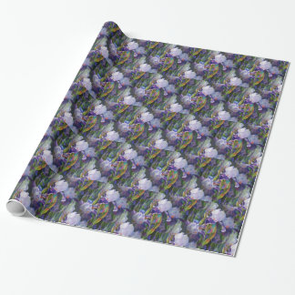 Iris Flower Garden Wrapping Paper Gift Wrap Paper