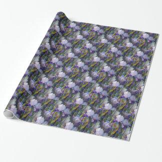 Iris Flower Garden Wrapping Paper Gift Wrap Paper