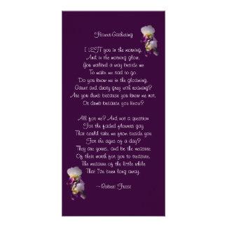 Iris Flower-Gathering Poetry Card