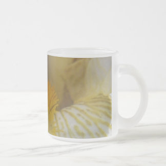 Iris Flower Photograph Frosted Glass Mug