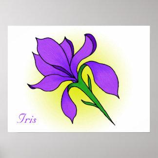 Iris Flower -print Poster
