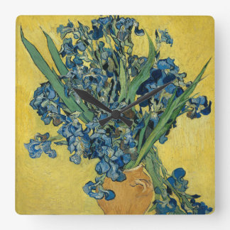 Iris flower van Gogh Square Wall Clock
